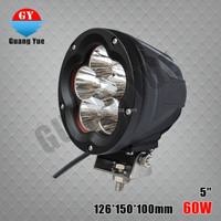 2015 HOT 2PCS 5INCH 60W LED Work Light Off Road Truck Tractor Heavy Duty 4X4 Car Driving Headlight SUV ATV Motorcycle head