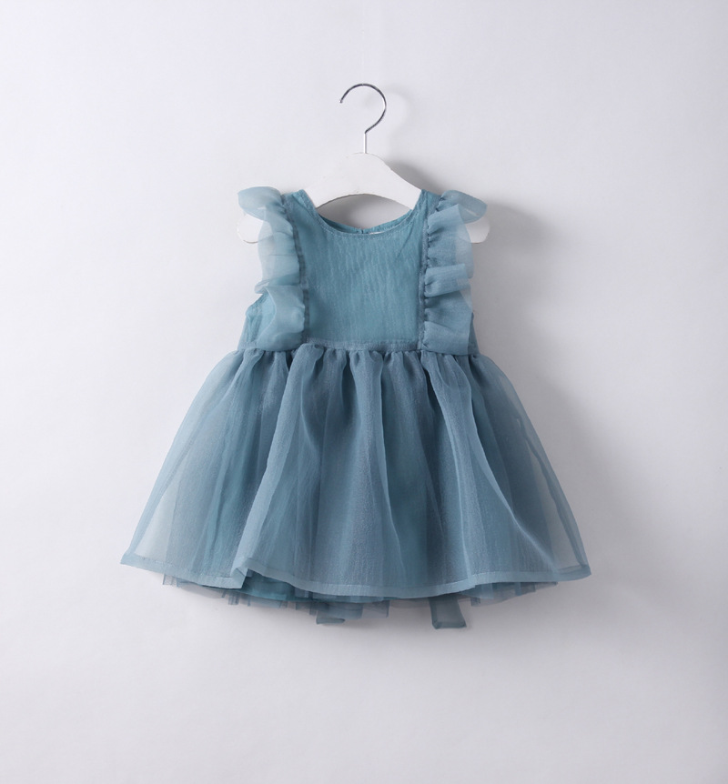 new 2017 Wholesale fashion Girls Fairy Chiffon Bow Summer Dresses 2-7 years