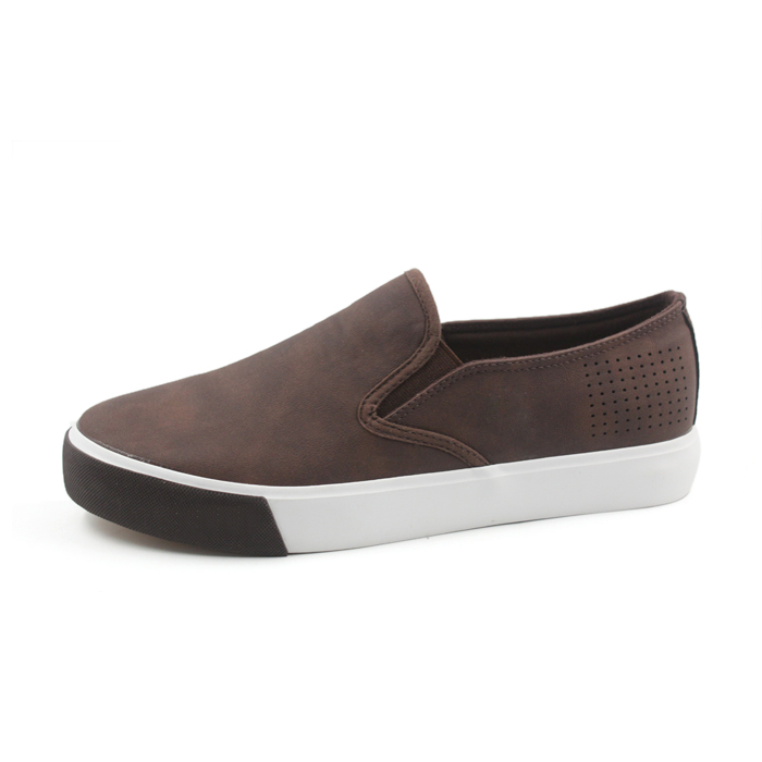 men leather slip on casual sneakers shoes