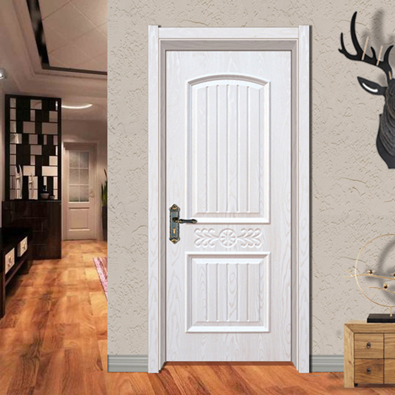 Waterproof and No Formaldehyde Solid Wood Door Plain White Bedroom Door For Sale YK-818
