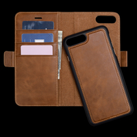 Detachable Cell Phone Leather Case for iPhone 7 8 Plus Wallet Case