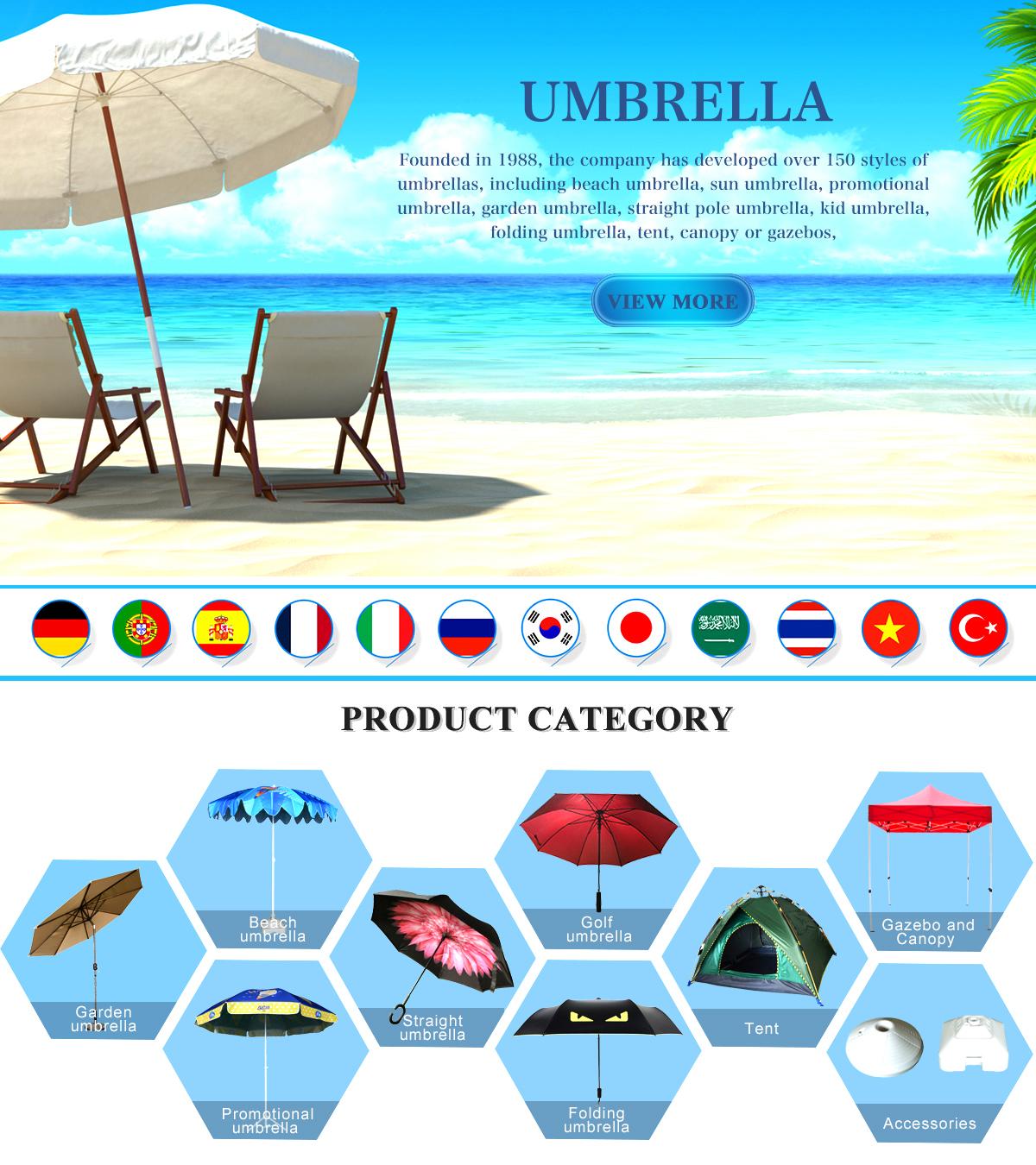 Zhejiang Hongliang Special Kind Umbrella Co Ltd Beach Bagus Anti Uv Blue Stripes Garden