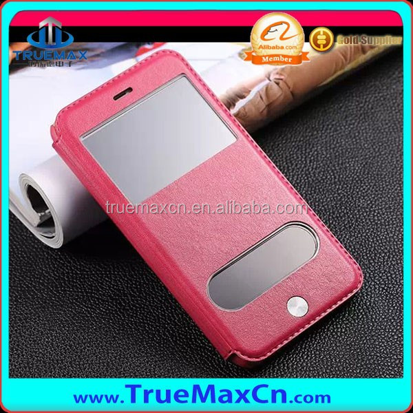 China Wholeasale leather case cover for iPhone 6 with view window