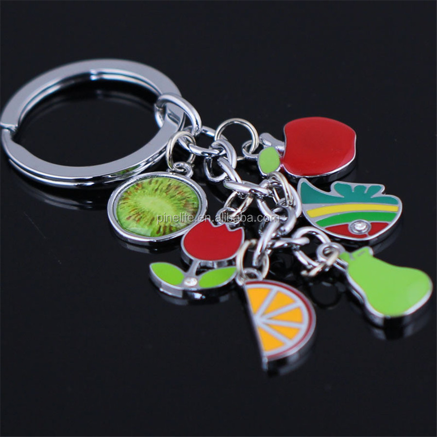 creative cosmetic wholesale keychain charms,metal custom keychain as gifts