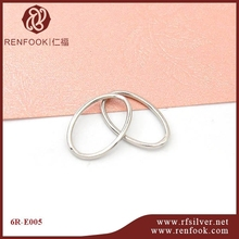 RenFook factory direct sale 925 sterling silver closed oval jump ring for connection