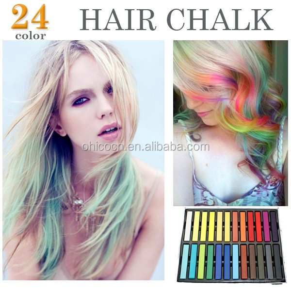 2017 newest design for sexy formula hair long style 24pcs/set semi permanent wholesale personal color hair dyes
