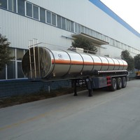 Aluminium Alloy Oil Tank Semi Trailer