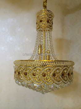 2015 new iron golden color pendant crystal light UAE new desigh