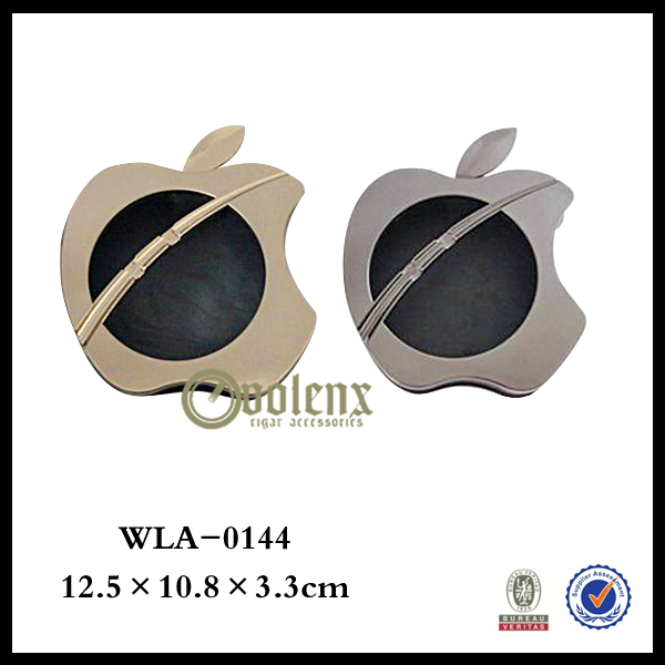 Apple shape high quality cigar stainless steel ashtray bin