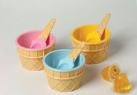 Durable hot sale spherical ice cream bowl plastic