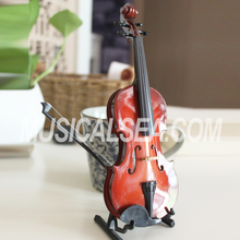 High Quality Miniature toy violin and violin different size decoration musical instrument hanging craft for Kids