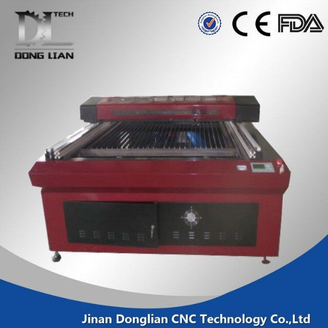 jinan DL1325 cnc co2 yag wood laser cutting machine used mobile phone
