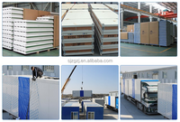 Fireproof/insoluation sandwich panel for wall/roof