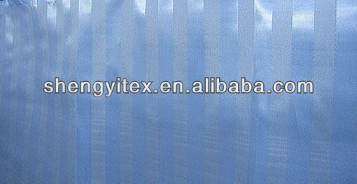 Polyester Solid shadow stripes Bath Curtain/Jacquard Fabric