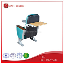 Commercial plastic auditorium chair seat with writing tablet the Conference chair