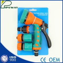 7 pattern water spray gun & fittings set for House garden & car washing