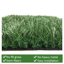 No Fill Artificial Grass 55mm No Heavy Metal Environment Friendly Football Field Fake Grass