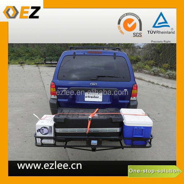 car hitch mount cargo carrier truck rear luggage rack cargo basket