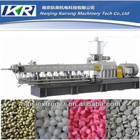TSE-65 plastic and rubber recycling PE granules machine and PVC granules extruder