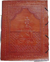 Handmade Leather Diary, Embossed Leather Journal