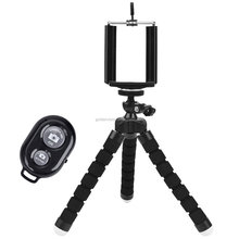 Universal Compact Tripod Stand Remote Included - Flexible Octopus Cell Phone Camera Selfie Stick Tripod Mount for Iphone7,gopro