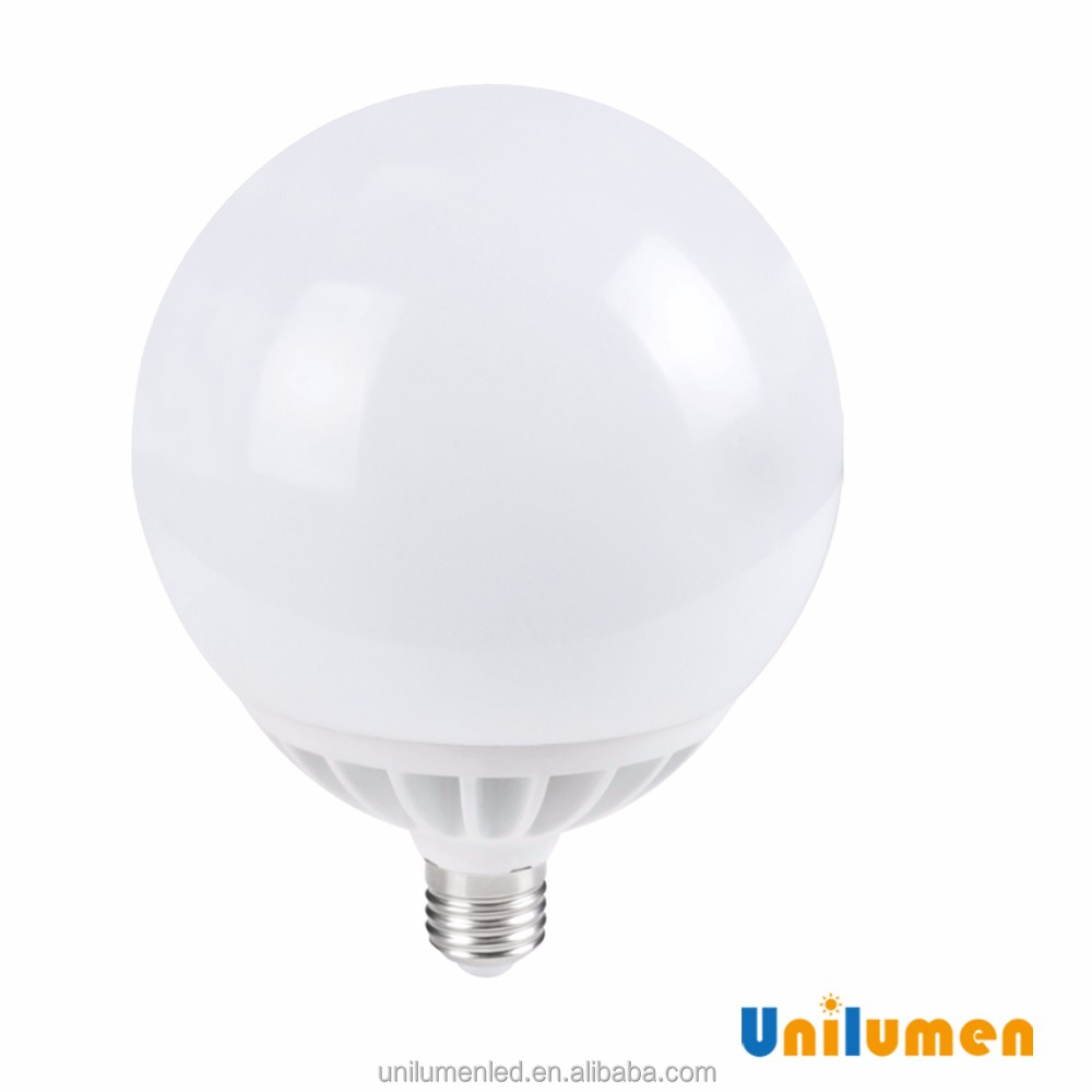 high power low energy cost CE RoHS G145 E27 24W led bulb light plastic body