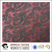 Shaoxing dongju textile jacquard 4 way spandex beautiful knit fabric