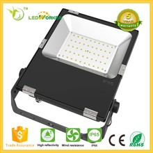 High lumen meanwell driver ip65 die cast aluminum 50w 60w 70W 100w LED flood light fixture