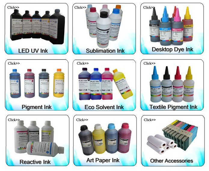 cmyk white 1 liter germany raw materials t-shirt machine textile pigment ink for mutoh printer