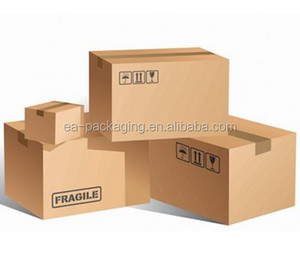 brown custom paper corrugated cardboard carton boxes shipping with logo