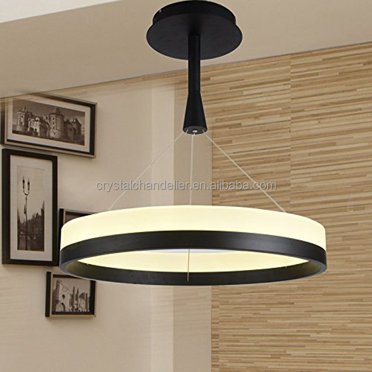 Single Ring New Chandelier Acryl Ring Led Circle Chandelier Lamp / Light Fitting by Fashion Designer