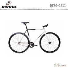 China White single speed cromoly frame carbon fiber fork fixed gear fixie bike