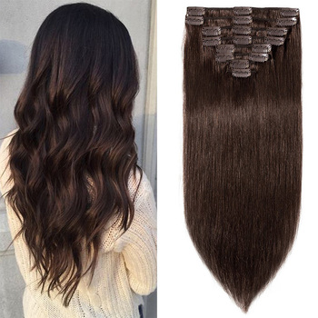 Hot selling human hair extensions wigs,clip in hair extension wholesale organic hair