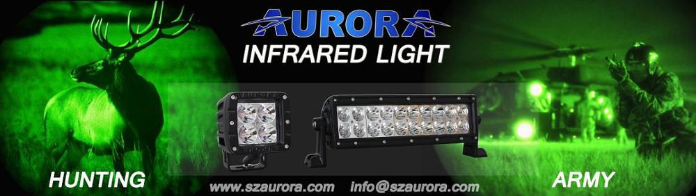 AURORA Popular 10inch Night Infrared 940nm Hunting Military Light LED Off Road Light