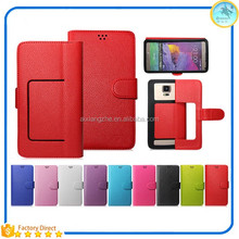 sky saver mobile accessories dual smart view flip cover for oppo r1001,window cover case for oppo n1 mini n5111