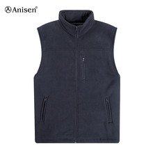 wholesale custom oem polar fleece outdoor men vests