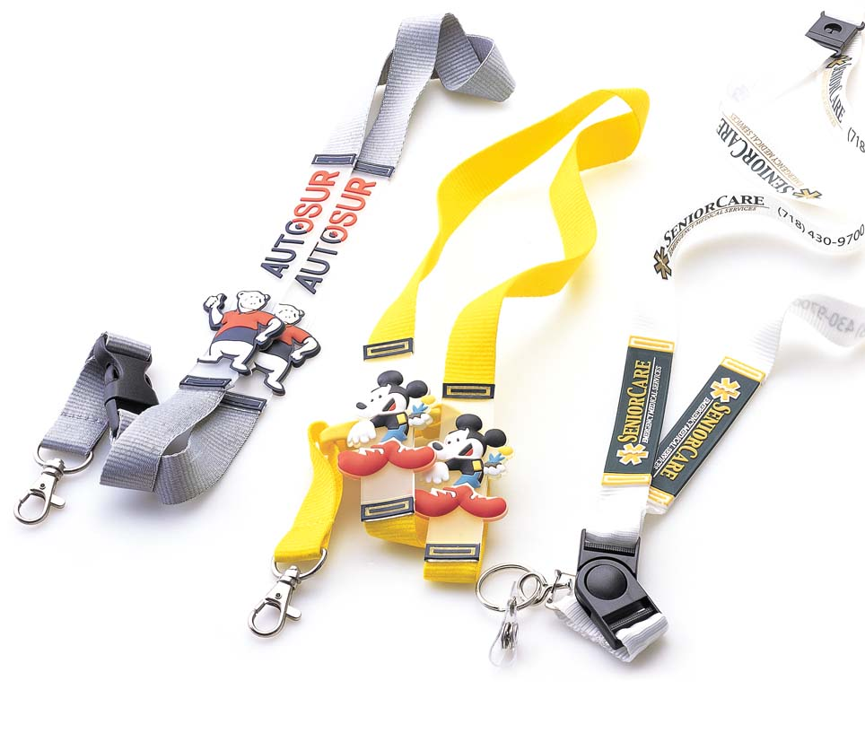 Silicon logo lanyards for gift