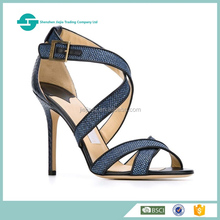 New fashion wholasale ladies high heels shoes open toe design ladies bridal shoes