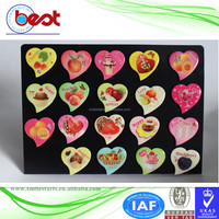 promotional souvenir 3D custom epoxy heart shape holiday gift fruit and chocolate fridge magnet