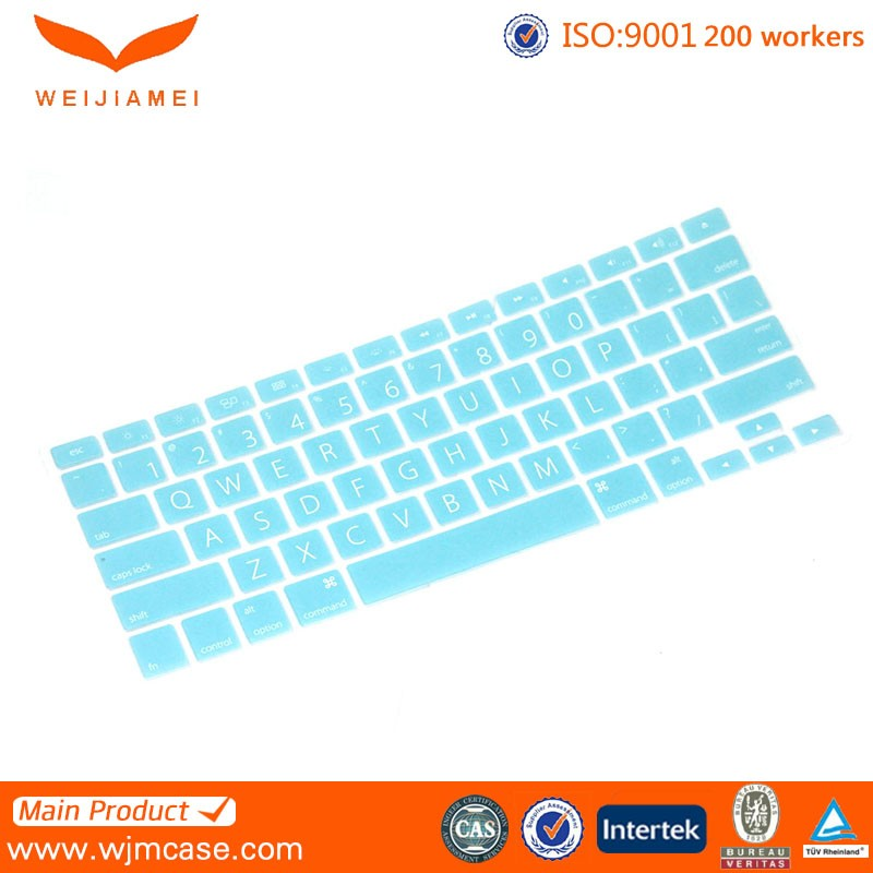 Custom wholesale luminous silicone colorful laptop dustproof keyboard cover for Mac
