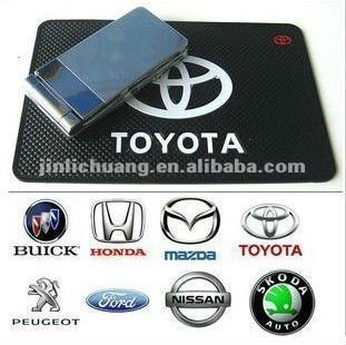 wholesale silk-screen silicone anti slip mat for Toyota