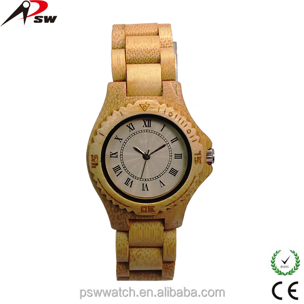 China suppliers fashion OEM high quality quartz wooden men watch for wholesale