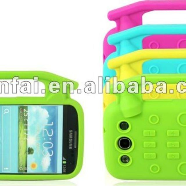 Eco-friend Silicon Case for Samsung Galaxy SIII mobile phone
