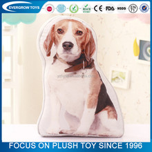 wholesale lifelike 3D dog shaped pillow pet