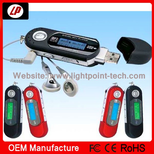 New type mp3 player with FM function USB port and download songs mp3 players
