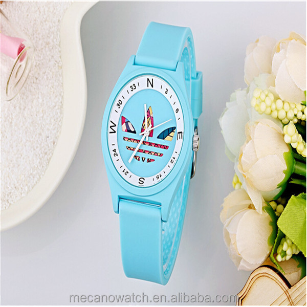 Silicone Watches 2015 Multi Color Band Wrist Watch For Girl And boy Gift Watches Wholesale