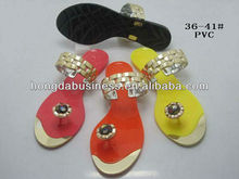 Latest fashion ladies jelly sandals