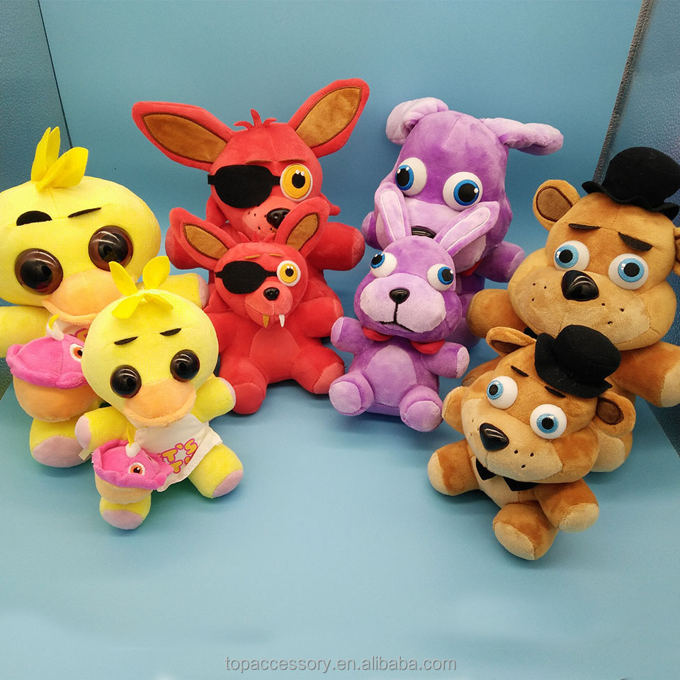 TTY6906-20 Five Nights At Freddy's 4 FNAF Bonnie Foxy Freddy Fazbear Bear Plush Toys Doll for children