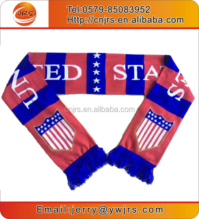 China factory made usa flag scarf football fan items scarf