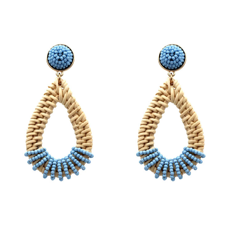 Best Selling Women Woven Earrings Jewelry Hoop Fashion Seed Bead Earrings